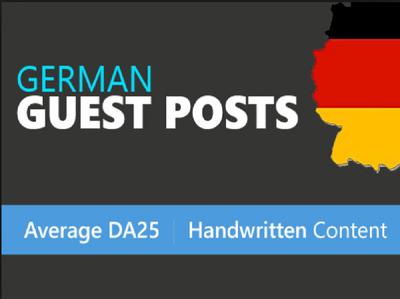 Publish German Guest Posts, High Metrics Dofollow  Backlinks