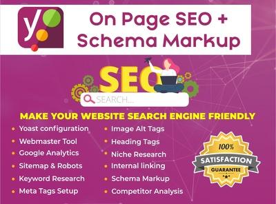 Do Wordpress Yoast SEO On Page With Schema Markup.