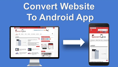 Convert any Website,Blogs,E-commerce Site Etc To Android App