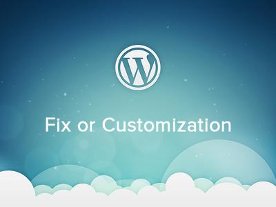 Fix the bugs and Customize WordPress website