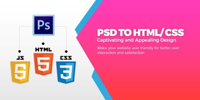 Convert Psd To Html/Css With Responsive Website