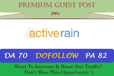 Publish Real Estate Guest Post On Activerain Dofollow [DA 70]
