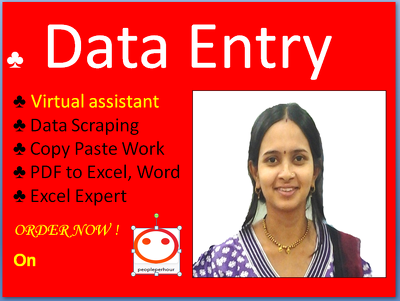 Do any Data Entry jobs and virtual assistant for you