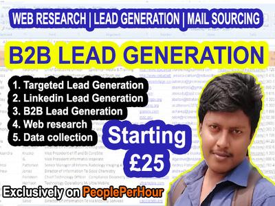 Do 100 B2b Targeted Lead Generation, Linkedin Lead Generation
