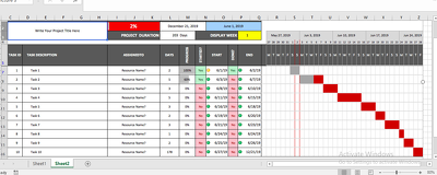 Create Microsoft Excel Gantt Chart For You