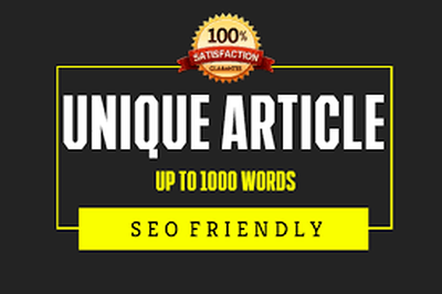 Write a 1000 words of SEO article or blog post in 24 hours