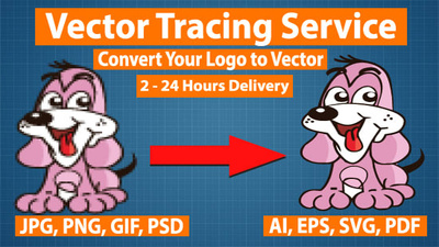 Redraw your low quality logo to a high quality vector logo
