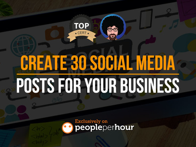 Create 30 social media posts for your business