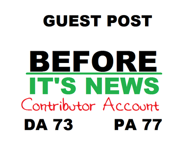 Get you an authority backlink/guest post on BeforeItsNews com
