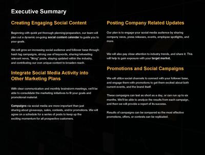 Provide social media management for one week