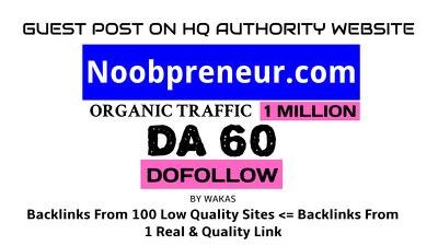publish Guest Post on Noobpreneur.com DA 60 Dofollow Link