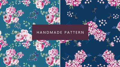 Make beautiful handmade watercolor pattern