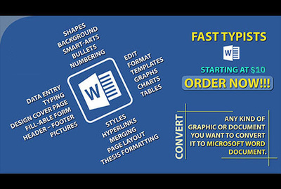 Manually type 2000 words of any file into  MS WORD