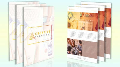 Design you a super stunning one page flyer design