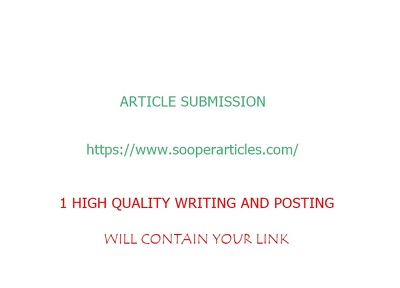 Do 1 sooperarticle article submission for you