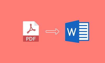Convert PDF To Microsoft Word