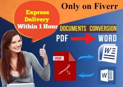Convert pdf to word within 5 hours