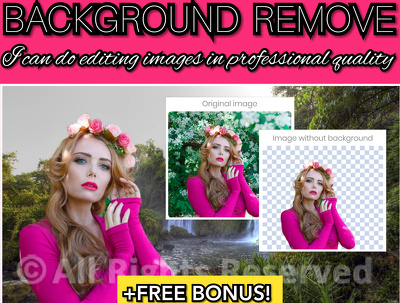 Perform background removal to 20 photos