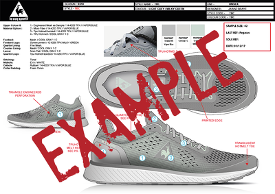 Footwear Design Specification Specs