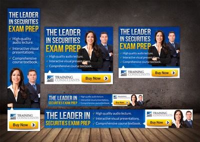 Design awesome web banner ad of 7 sizes