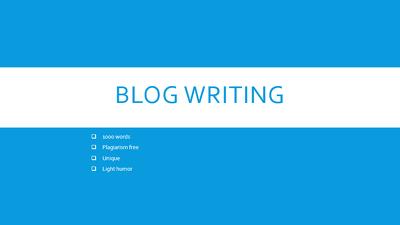 Write a blog post of 1000 words