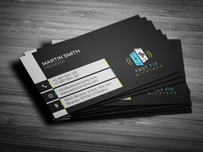 Design smart business card with unlimited concepts and revisions