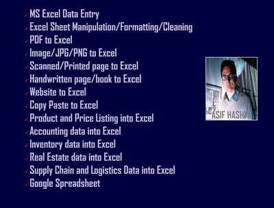 Do Excel data entry work within your time limit