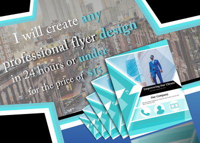 Create any professional flyer design