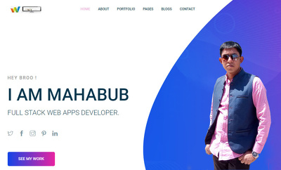 Build your company responsive website only