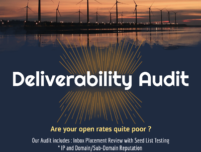 Conduct email deliverability audit