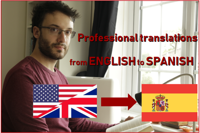 Translate manually from english to spanish (500 words / 10£)