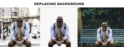 Photoshop cut out, remove and replacement background 20 images