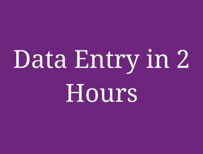Do data entry for all types of your requirements