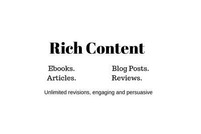 Write a well researched blog post in any niche