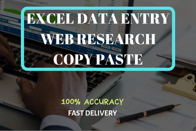 Do excel data entry, copy paste, web research job houlry basis