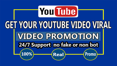 Do Organic youtube video promotion and real marketing