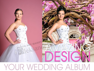 Design amazing wedding album (20 pages)