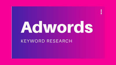 Do extensive keyword research for profitable adwords campaign