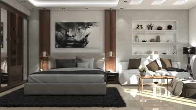 Create 3d interior design with realistic render