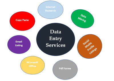 do data entry and web research for 1 hour