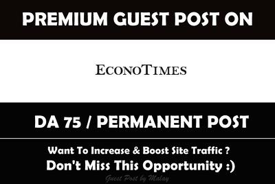 Publish a guest post on Econo Time. Econotimes.com – DA75