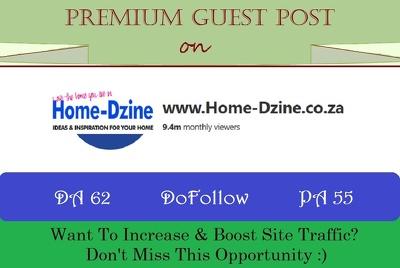 Write & Poat on Home-DZine.co.za - DA 62, DR 54