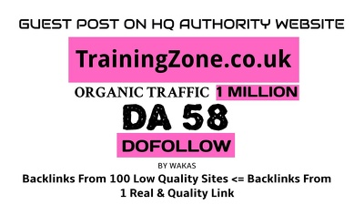 Guest post on TrainingZone.co.uk DA 58 Dofollow Link