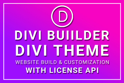 Design Divi Theme Divi Website Using Divi Builder With License