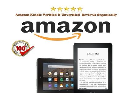 Amazon Kindle Verified & Unverified  Reviews Organically