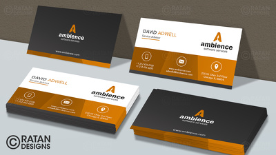 Design Print Ready Professional, Creative Business Card