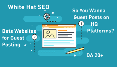 Will Provide Unique HQ Guest Posts On High Da Websites