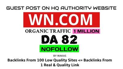 Publish a guest post on WN DA 82 PA 86 Wn.com World News Wesbite