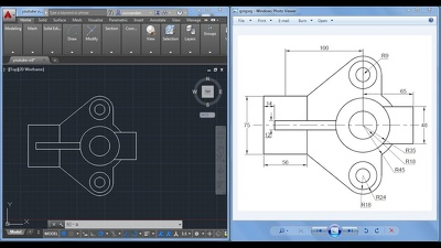 Create 2D technical drawings of your product by using AutoCAD