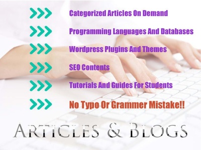 Write blogs on specific topics of upto 500 words